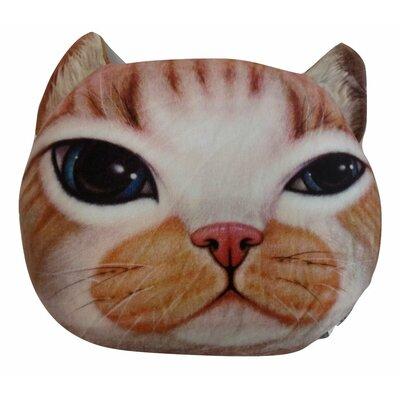 Orange Tabby Cute Kitty Cat Throw Pillow