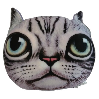 Gray Tabby Cute Kitty Cat Throw Pillow