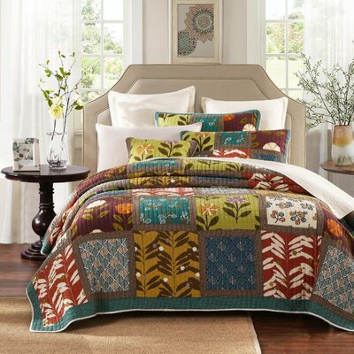 Summer Day Party 3 Piece Reversible Quilt Set Size: Full