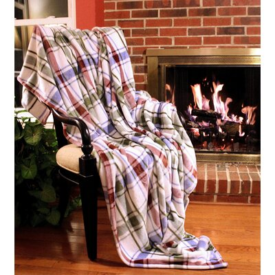 Bedside Comfort Flannel Polyester Throw Blanket Size: 90 L x 80 W
