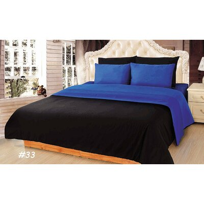 Reversible Comforter Set Size: Queen, Color: Blue/Black