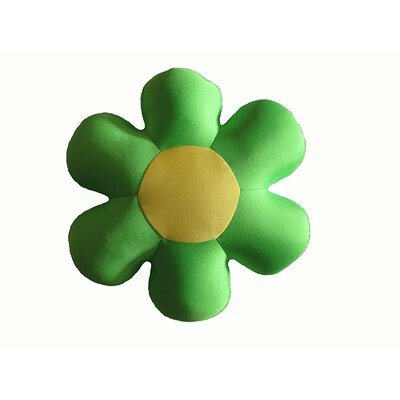 Field of Flower Indoor/Outdoor Throw Pillow Color: Green