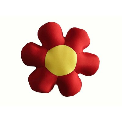 Field of Flower Indoor/Outdoor Throw Pillow Color: Red