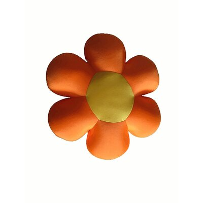 Field of Flower Indoor/Outdoor Throw Pillow Color: Orange