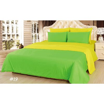 Reversible Comforter Set Size: King, Color: Green/Yellow/Lemon Lime