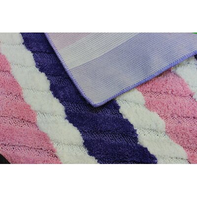 Summer Boardwalk Pink/Blue Indoor/Outdoor Area Rug