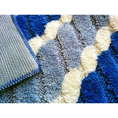 Summer Boardwalk Blue/Grey Indoor/Outdoor Area Rug