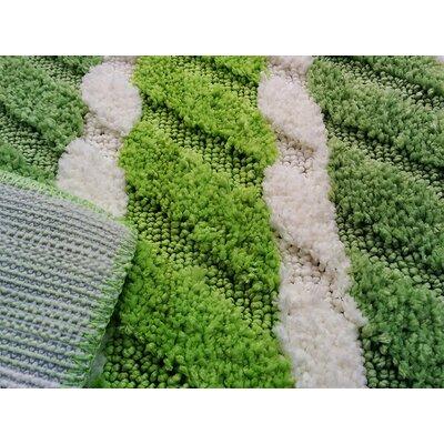 Summer Boardwalk Green/White Indoor/Outdoor Area Rug