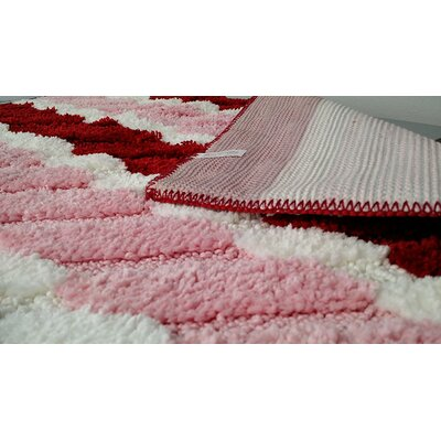 Summer Boardwalk Pink/Red Indoor/Outdoor Area Rug