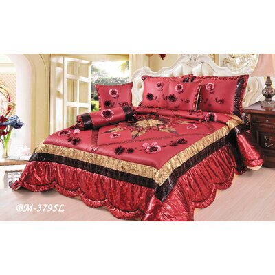 Winter Holiday 4 Piece Comforter Set Size: King