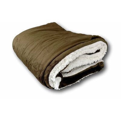 Evergreen Sherpa Polyester Throw Blanket Size: 87 L x 63 W