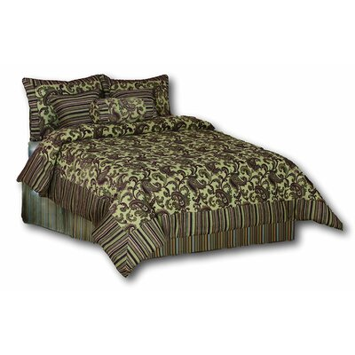 Exotic Blooms 6 Piece Comforter Set Size: Queen