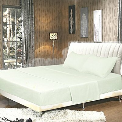 Galan Bed Sheet Set Size: King, Color: Cloud White