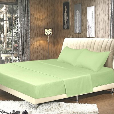 Galan Bed Sheet Set Size: Queen, Color: Sage Green