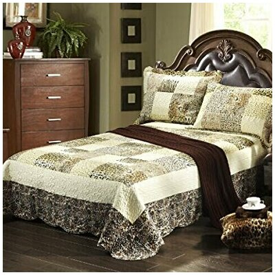 Cruelty Free Animal Print Wild Safari Bedspread Set Size: California King