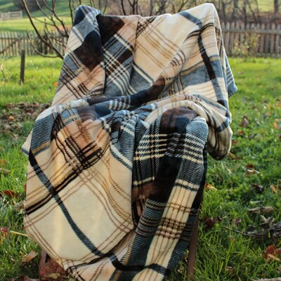 Winter Cabin Flannel Polyester Throw Blanket Size: 90 L x 80 W