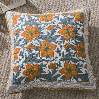 Gilded Garden Cotton Pillow Cover