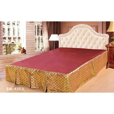 Diamond Net Bed Skirt Size: Twin