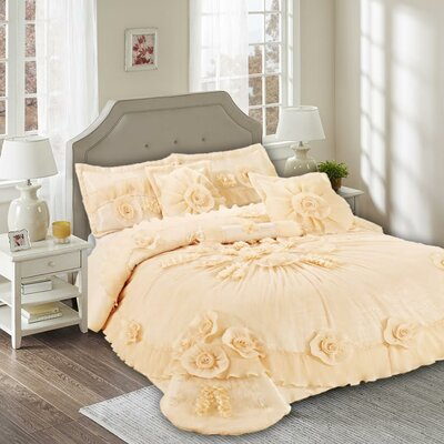 Daffodil 6 Piece Comforter Set Size: King