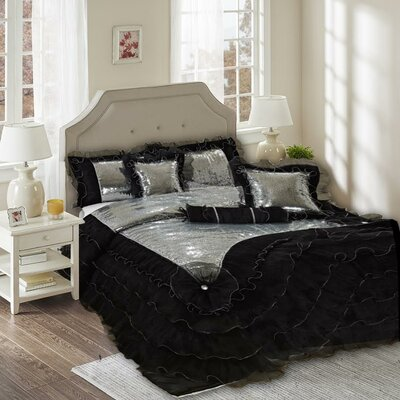 Luxurious 6 Piece Comforter Set Size: Queen