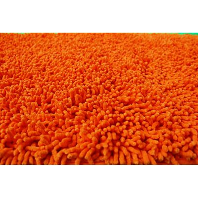 100% Cotton Solid Sunny Orange Shag Area Rug Rug Size: 2 x 3