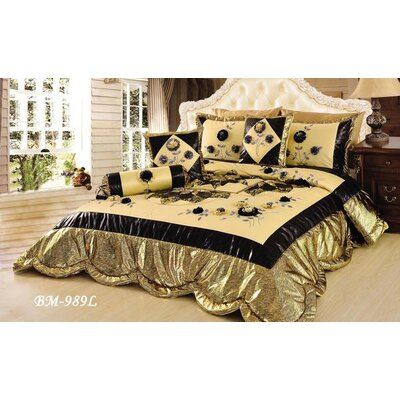 Royal Spring Blooms Comforter Set Size: Queen