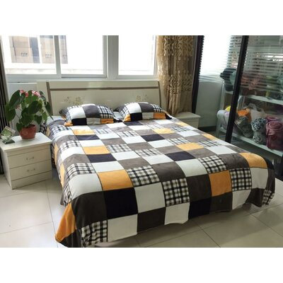 Fall Farmhouse Super Soft Patchwork Throw Blanket Size: 90 L x 90 W
