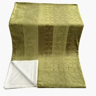 Embossed Sherpa Blanket Size: 90 L x 90 W, Color: Olive Green
