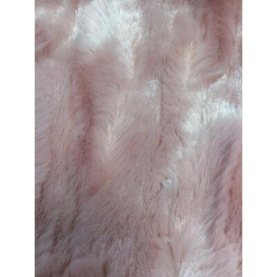Faux Fur Soft Throw Blanket Size: 63 L x 87 W, Color: Dusty Rose