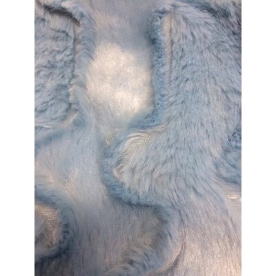 Faux Fur Soft Throw Blanket Size: 90 L x 90 W, Color: Blue Sky