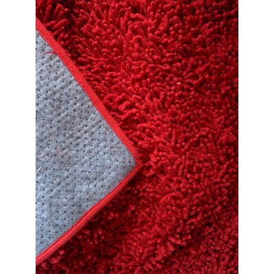 Chenille Red Area Rug Rug Size: Runner 27 x 8