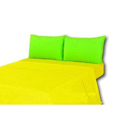 100% Cotton Sheet Set Size: King, Color: Yellow/Green