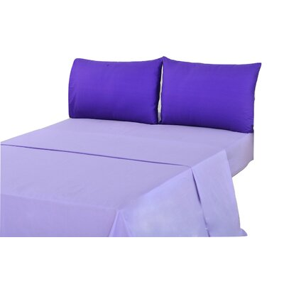 100% Cotton Sheet Set Size: Full, Color: Purple