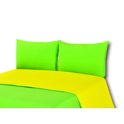 Duvet Cover Set Size: California King, Color: Yellow/Green