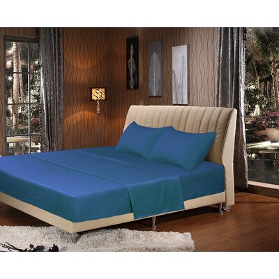 Galan Bed Sheet Set Size: California King, Color: Blue