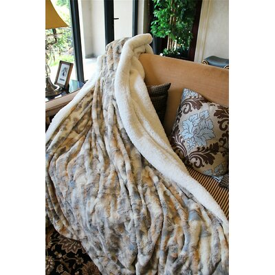 Russian Lynx Faux Fur Throw Blanket Size: 63 x 87