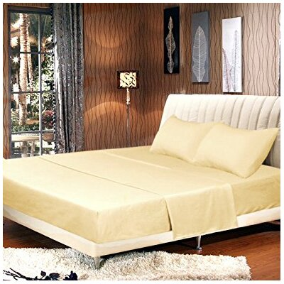 Galan Bed Sheet Set Size: Full, Color: Sunny Yellow