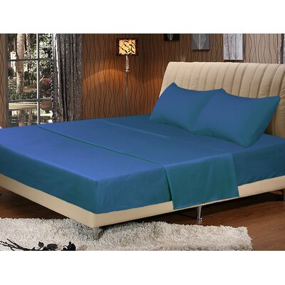 Galan Bed Sheet Set Size: Full, Color: Ocean Blue