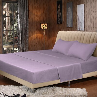 Galan Bed Sheet Set Size: King, Color: Lavender
