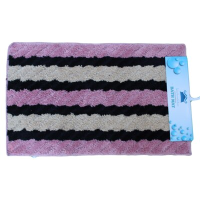 Bath Rug Color: Pink/Beige