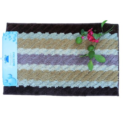 Tache Kitchen Mat Color: Brown/Purple