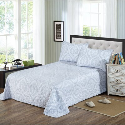 Floral Austere 3 Piece Reversible Coverlet Set Size: California King