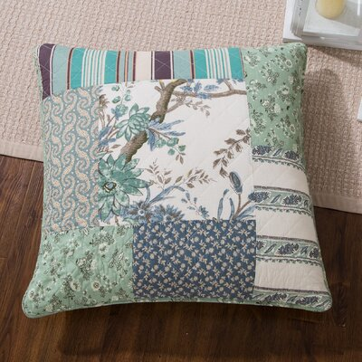 Ethan Floral Patchwork Forest Glade Cotton Euro Sham