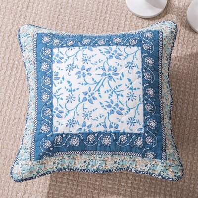Francis Floral Patchwork Elegance Cotton Pillow Cover