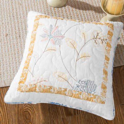 Gavin Floral Patchwork Winter Frost Cotton Pillow Cover