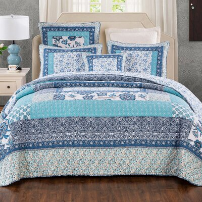 Cotton Reversible Quilt Set Size: Twin