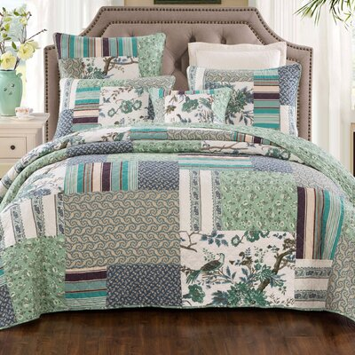 Martha Cotton 3 Piece Quilt Set Size: California King