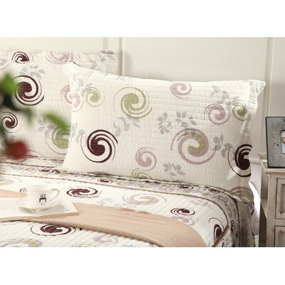 Cotton Reversible Coverlet Set Size: California King