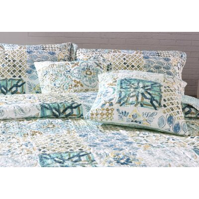 Tyra Patchwork Quilted Coverlet Bedspread Set Size: King