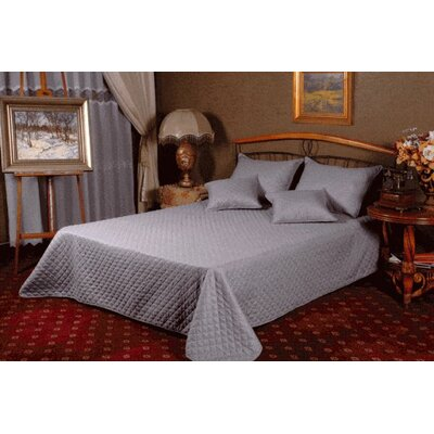 Thompsontown Reversible Bedspread Set Size: Queen, Color: Silver